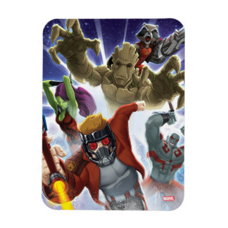 Guardians of the Galaxy   Group Attack Rectangular Photo Magnet