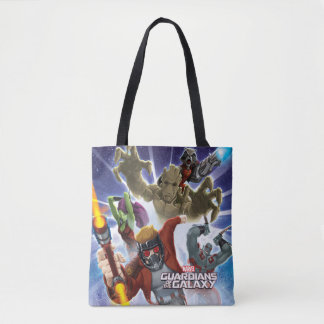 Guardians of the Galaxy   Group Attack Tote Bag