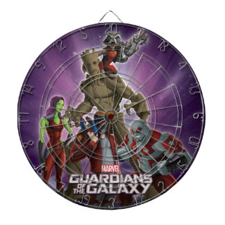 Guardians of the Galaxy | Group In Space Dartboard