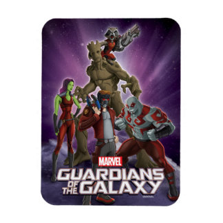 Guardians of the Galaxy   Group In Space Rectangular Photo Magnet