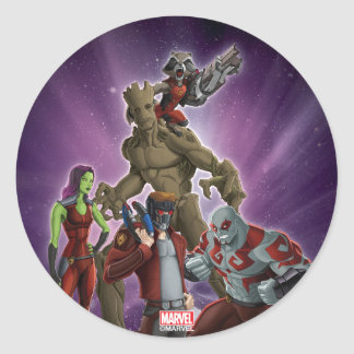 Guardians of the Galaxy | Group In Space Round Sticker