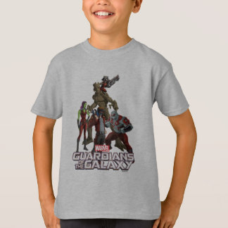Guardians of the Galaxy | Group In Space T-Shirt