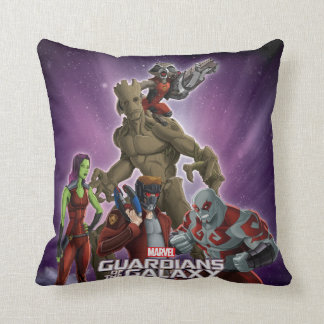 Guardians of the Galaxy | Group In Space Throw Pillow