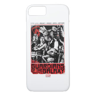 Guardians of the Galaxy | Grunge Crew Art iPhone 8/7 Case