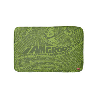 Guardians of the Galaxy | I Am Groot Typography Bath Mat