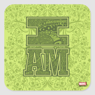 Guardians of the Galaxy | I Am Groot Typography Square Sticker