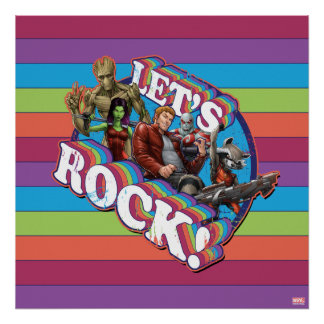 Guardians of the Galaxy | Let's Rock! Poster