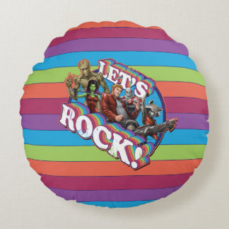 Guardians of the Galaxy | Let's Rock! Round Pillow