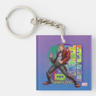 Guardians of the Galaxy | Let's Rock This! Double-Sided Square Acrylic Keychain
