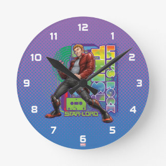 Guardians of the Galaxy   Let's Rock This! Round Clock