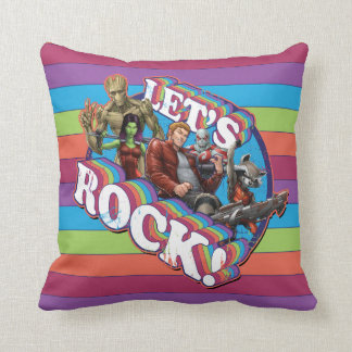 Guardians of the Galaxy | Let's Rock! Throw Pillow