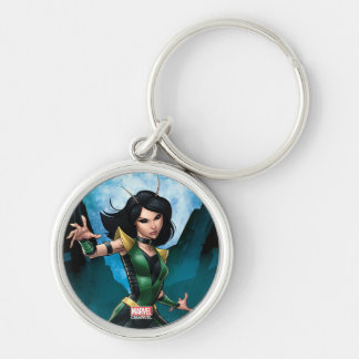 Guardians of the Galaxy | Mantis Character Art Silver-Colored Round Keychain