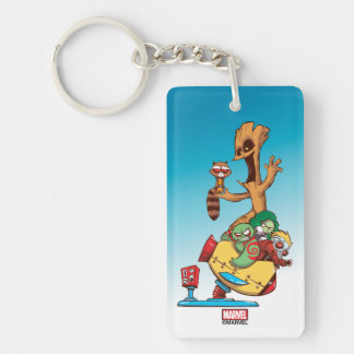 Guardians of the Galaxy | Mechanical Rocket Ride Double-Sided Rectangular Acrylic Keychain