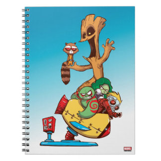 Guardians of the Galaxy | Mechanical Rocket Ride Spiral Notebook