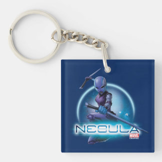 Guardians of the Galaxy | Nebula Character Badge Keychain