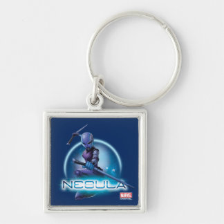 Guardians of the Galaxy | Nebula Character Badge Silver-Colored Square Keychain