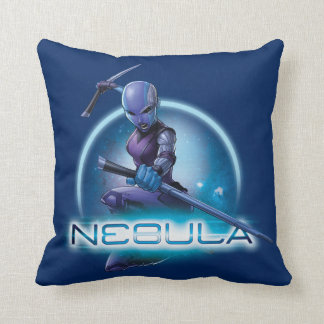 Guardians of the Galaxy | Nebula Character Badge Throw Pillow