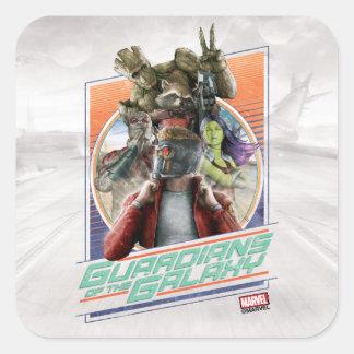 Guardians of the Galaxy | Retro Crew Art Square Sticker