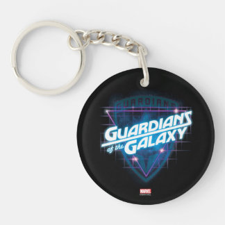 Guardians of the Galaxy | Retro Logo Double-Sided Round Acrylic Keychain