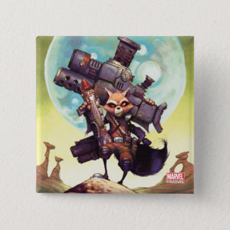 Guardians of the Galaxy | Rocket Armed & Ready 2 Inch Square Button