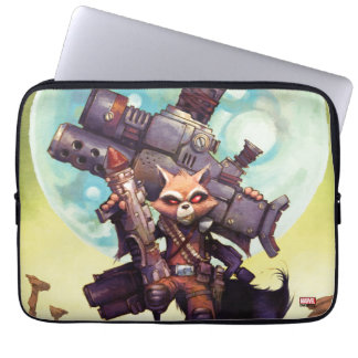 Guardians of the Galaxy   Rocket Armed & Ready Laptop Sleeve