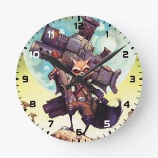 Guardians of the Galaxy | Rocket Armed & Ready Round Clock