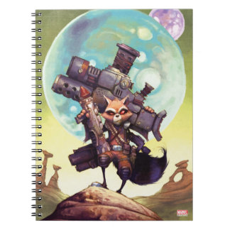 Guardians of the Galaxy | Rocket Armed & Ready Spiral Notebook