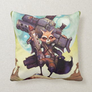 Guardians of the Galaxy | Rocket Armed & Ready Throw Pillow