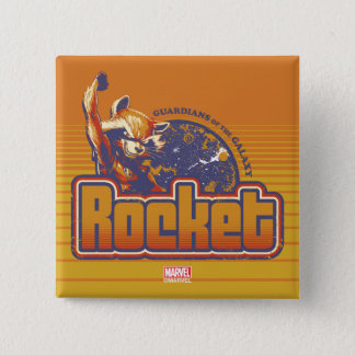 Guardians of the Galaxy   Rocket Character Badge 2 Inch Square Button