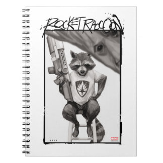 Guardians of the Galaxy | Rocket Comic Cover Art Spiral Notebook