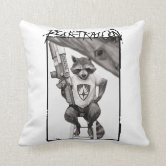 Guardians of the Galaxy | Rocket Comic Cover Art Throw Pillow