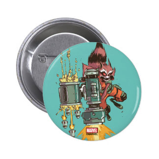 Guardians of the Galaxy | Rocket Full Blast 2 Inch Round Button