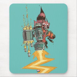 Guardians of the Galaxy | Rocket Full Blast Mouse Pad