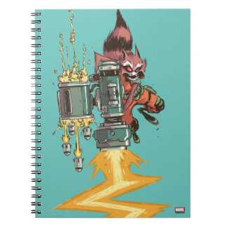 Guardians of the Galaxy   Rocket Full Blast Note Book