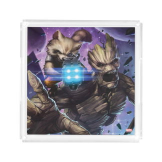 Guardians of the Galaxy | Rocket & Groot Attack Acrylic Tray