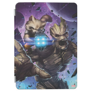 Guardians of the Galaxy | Rocket & Groot Attack iPad Air Cover