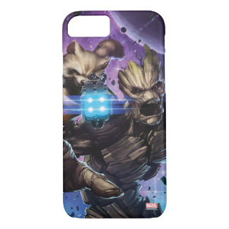 Guardians of the Galaxy | Rocket & Groot Attack iPhone 8/7 Case