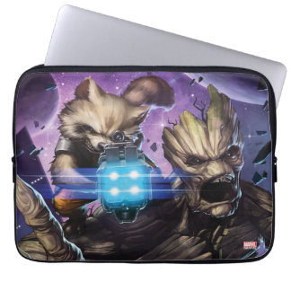 Guardians of the Galaxy | Rocket & Groot Attack Laptop Sleeve