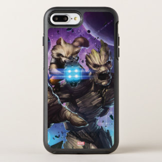 Guardians of the Galaxy | Rocket & Groot Attack OtterBox Symmetry iPhone 8 Plus/7 Plus Case