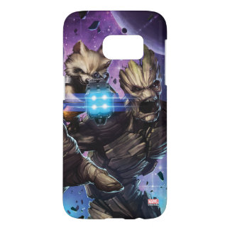 Guardians of the Galaxy | Rocket & Groot Attack Samsung Galaxy S7 Case