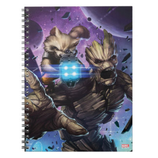 Guardians of the Galaxy | Rocket & Groot Attack Spiral Notebook