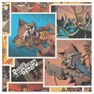 Guardians of the Galaxy | Rocket & Groot Collage Fabric