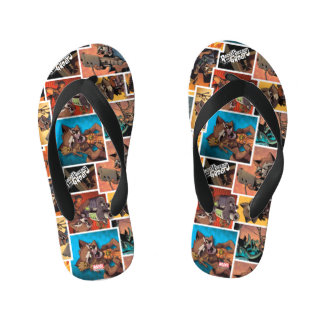 Guardians of the Galaxy | Rocket & Groot Collage Kid's Flip Flops