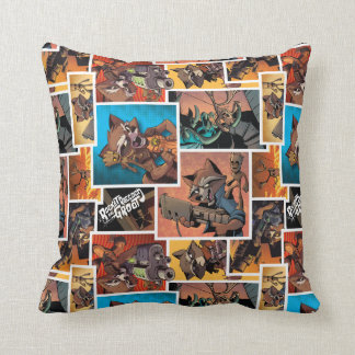 Guardians of the Galaxy | Rocket & Groot Collage Throw Pillow