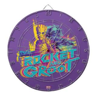 Guardians of the Galaxy   Rocket & Groot Neon Art Dart Boards