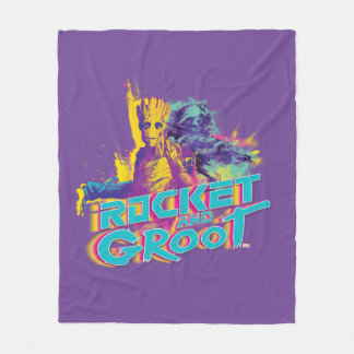 Guardians of the Galaxy | Rocket & Groot Neon Art Fleece Blanket