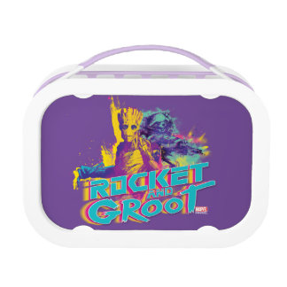 Guardians of the Galaxy | Rocket & Groot Neon Art Lunch Box