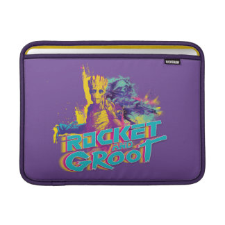 Guardians of the Galaxy | Rocket & Groot Neon Art MacBook Sleeve