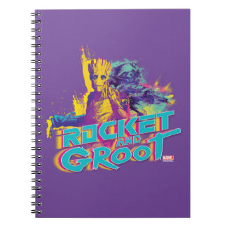 Guardians of the Galaxy | Rocket & Groot Neon Art Notebooks