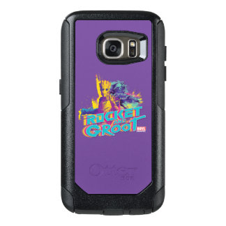 Guardians of the Galaxy | Rocket & Groot Neon Art OtterBox Samsung Galaxy S7 Case